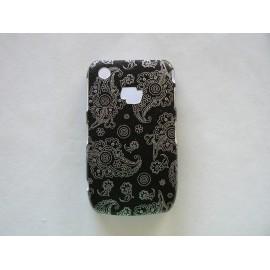 Coque Blackberry Curve 8520/9300 brillante motif cachemire + film protection écran