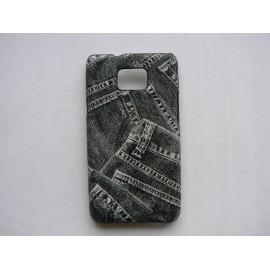 Coque Samsung Galaxy S2 / I9100 rigide et mate motif djean + film protection écran offert