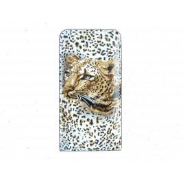 Pochette pour Iphone 4 en simili-cuir motif léopard + film protection écran
