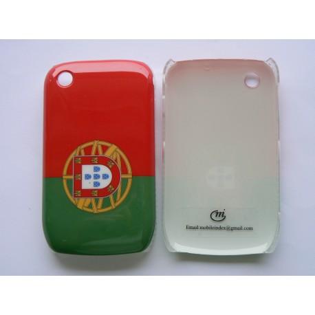 Coque rigide et brillante drapeau Portugal pour Blackberry 8520 Curve  + film protection écran offert