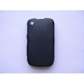 Coque ultra-fine noire pour Blackberry 8520 Curve microperforée + film protection écran offert