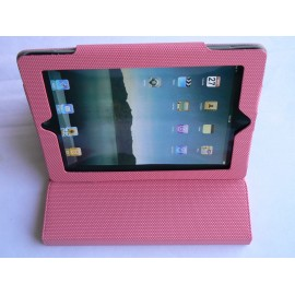 Etui pochette Ipad 2 rose antidérapante + film protection écran