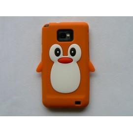 Coque silicone  motif pingouin orange pour  Samsung I9100 Galaxy S2 + film protection écran offert
