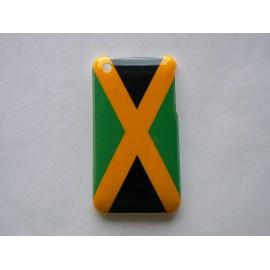 Coque rigide drapeau Jamaique pour Iphone 3  + film protection écran offert