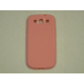 Coque Galaxy S3 I9300 semi-rigide glossy rose + film protection ecran offert