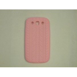 Coque Samsung Galaxy S3 / I9300 silicone rose  + film protection écran offert