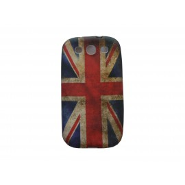 Coque pour Samsung I9300 Galaxy S3 silicone vintage drapeau UK/Angleterre + film protection écran offert