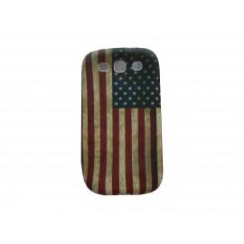Coque pour Samsung I9300 Galaxy S3 silicone vintage drapeau USA/Etats-Unis  + film protection écran offert