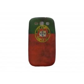 Coque pour Samsung I9300 Galaxy S3 silicone vintage drapeau Portugal  + film protection écran offert