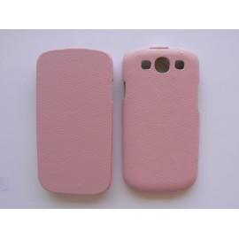 Pochette Etui simili-cuir granité rose pour Samsung I9300 Galaxy S3 + film protection écran