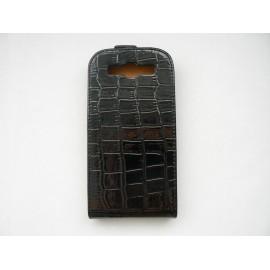 Pochette Etui pour Samsung I9300 Galaxy S3 noire simili-cuir crocodile + film protection écran