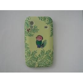 Coque pour Samsung S5830 Galaxy Ace silicone verte petit garçon + film protection écran offert