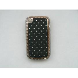 Coque Blackberry 8520 curve noire strass diamants + film protection ecran offert