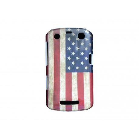 Coque pour Blackberry Curve 9350/9360/9370 drapeau Etats-Unis/USA vintage  + film protection écran offert