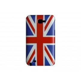 Coque rigide drapeau Angleterre/UK pour Samsung Galaxy Note I9220/N7000  + film protection écran offert