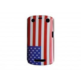 Coque rigide drapeau Etats-Unis/USA pour Blackberry Curve 9350/9360/9370  + film protection écran offert