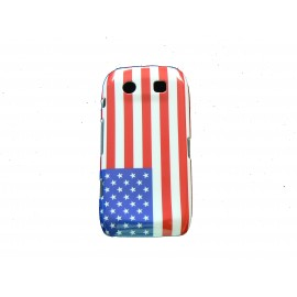 Coque drapeau USA pour Blackberry Torch 9860/9850  + film protection ecran offert