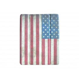 Etui pochette pour Ipad 2 USA vintage + film protection écran