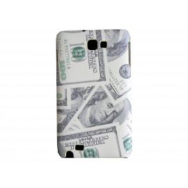 Coque mate billet de 100 dollars beige pour Samsung Galaxy Note I9220/N7000  + film protection écran offert