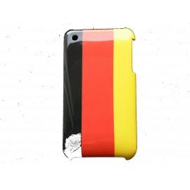 Coque rigide drapeau Allemagne pour Iphone 3  + film protection écran offert