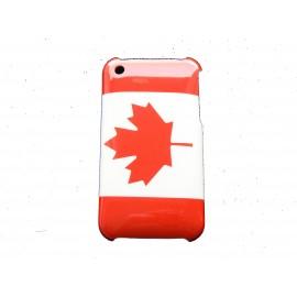 Coque rigide drapeau Canada pour Iphone 3  + film protection écran offert