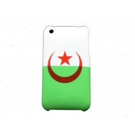Coque rigide drapeau Algérie pour Iphone 3  + film protection écran offert