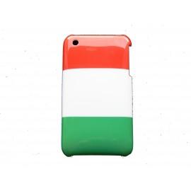 Coque rigide drapeau Italie pour Iphone 3  + film protection écran offert