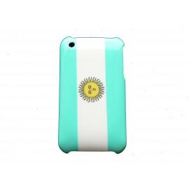 Coque rigide drapeau Argentine pour Iphone 3  + film protection écran offert