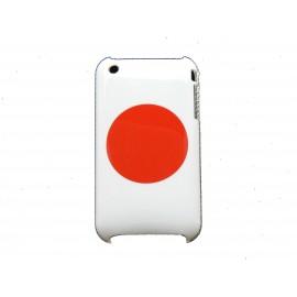 Coque rigide drapeau Japon pour Iphone 3  + film protection écran offert