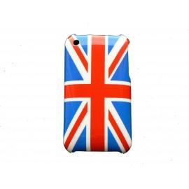 Coque rigide drapeau Angleterre/UK pour Iphone 3  + film protection écran offert