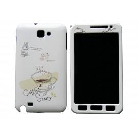Coque intégrale pour Samsung Galaxy Note I9220/N7000 tasse à café+ film protection écran offert