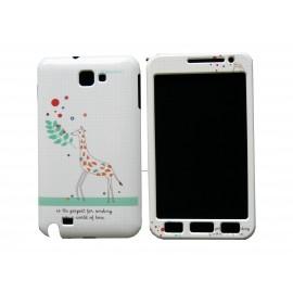 Coque intégrale blanche pour Samsung Galaxy Note I9220/N7000 girafe+ film protection écran offert