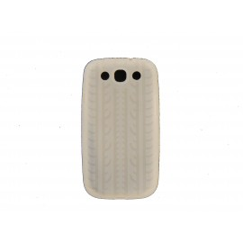 Coque pour Samsung Galaxy S3 / I9300 silicone blanche  + film protection écran offert