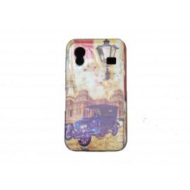 Coque pour Samsung S5830 Galaxy Ace carte postale Paris Tour Eiffel  + film protection écran offert