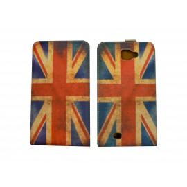 Pochette pour Galaxy Note/I9220 drapeau UK/Angleterre  vintage+ film protection écran