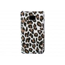 Coque motif léopard noire/marron pour Samsung Galaxy Note I9220/N7000  + film protection écran offert