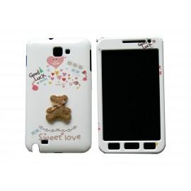 Coque intégrale pour Samsung Galaxy Note I9220/N7000 ourson marron+ film protection écran offert