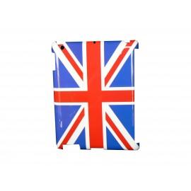 Coque brillante drapeau Angleterre/UK pour Ipad 2 + film protection ecran offert