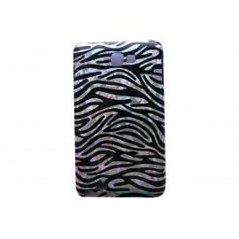 Coque rigide motif zèbre pour Samsung Galaxy Note I9220/N7000  + film protection écran offert