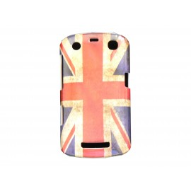 Coque pour Blackberry Curve 9350/9360/9370 drapeau Angleterre/UK vintage  + film protection écran offert