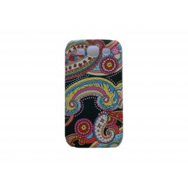 Coque pour Samsung I9300 Galaxy S3 cachemire noire + film protection écran offert
