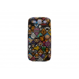 Coque pour Samsung I9300 Galaxy S3 petits personnages + film protection écran offert