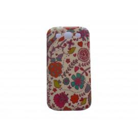 Coque pour Samsung I9300 Galaxy S3 brillante fleurs roses + film protection écran offert