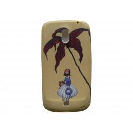 Coque pour Samsung I9250 Galaxy Nexus Prime silicone fleur marron + film protection écran offert