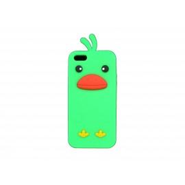 Coque pour Iphone 5 silicone poussin vert + film protection écran offert