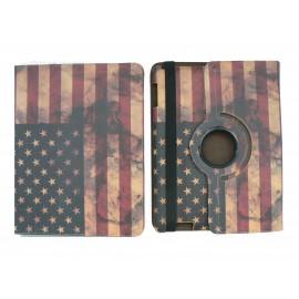 Pochette Ipad 2/3 vintage drapeau USA/Etats-Unis version 3+ film protection écran
