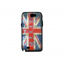 Coque pour Samsung Galaxy Note 2 - N7100  drapeau Angleterrre/ UK vintage version 1+ film protection écran offert
