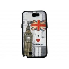 Coque pour Samsung Galaxy Note 2 - N7100  drapeau Angleterre/UK Big Ben + film protection écran offert