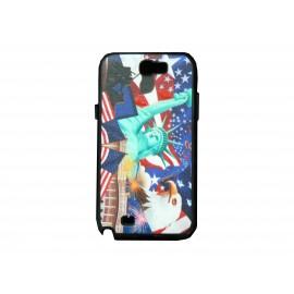 Coque pour Samsung Galaxy Note 2 - N7100  drapeau Etats-Unis/USA  statue de la liberté + film protection écran offert