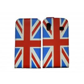 Pochette pour Samsung Galaxy Ace S5830 simili-cuir drapeau UK/Angleterre + film protectin écran